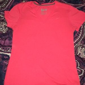 NIKE Dry Fit V-Neck! Hot pink!